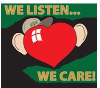 we listen we care